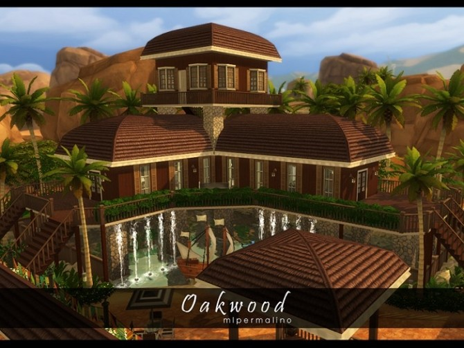 Oakwood Tropical Home by mlpermalino at Mod The Sims image 2275 670x503 Sims 4 Updates