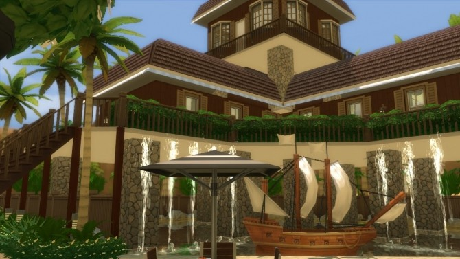 Oakwood Tropical Home by mlpermalino at Mod The Sims image 2285 670x377 Sims 4 Updates