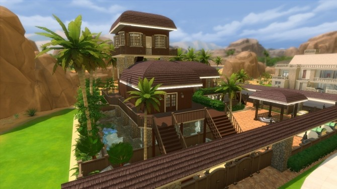 Oakwood Tropical Home by mlpermalino at Mod The Sims image 2304 670x377 Sims 4 Updates