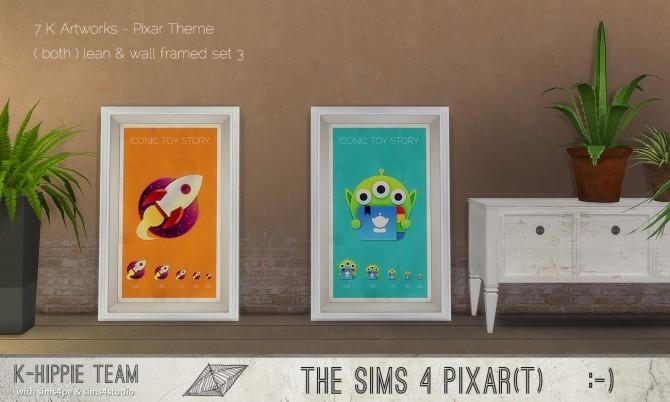 Sims 4 7 K Artworks Pixar Theme set 3 at K hippie