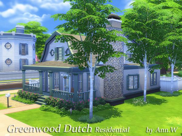 Sims 4 Greenwood Dutch house by annwang923 at TSR
