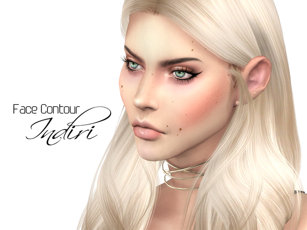 Sims 4 Face Contour Indiri by Ms Blue at TSR