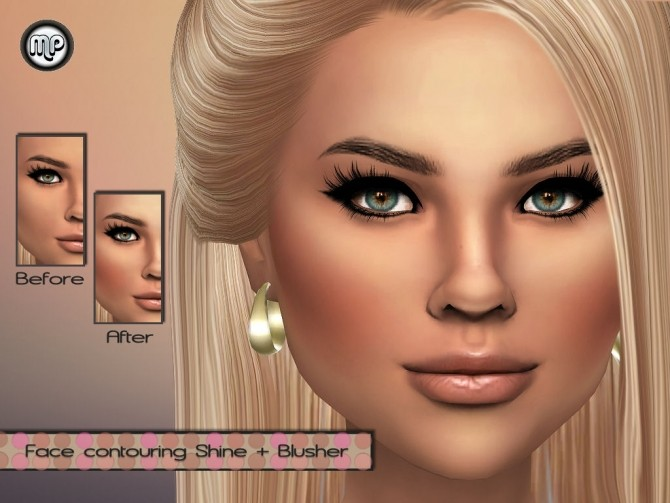 Sims 4 MP Face contouring + Blusher at BTB Sims – MartyP