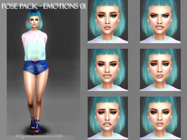 Pose Pack Emotions (01) at Angissi image 2465 Sims 4 Updates