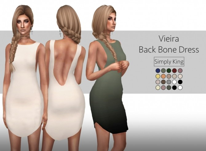 Vieira Back Bone Dress (v2) at Simply King image 2481 670x492 Sims 4 Updates