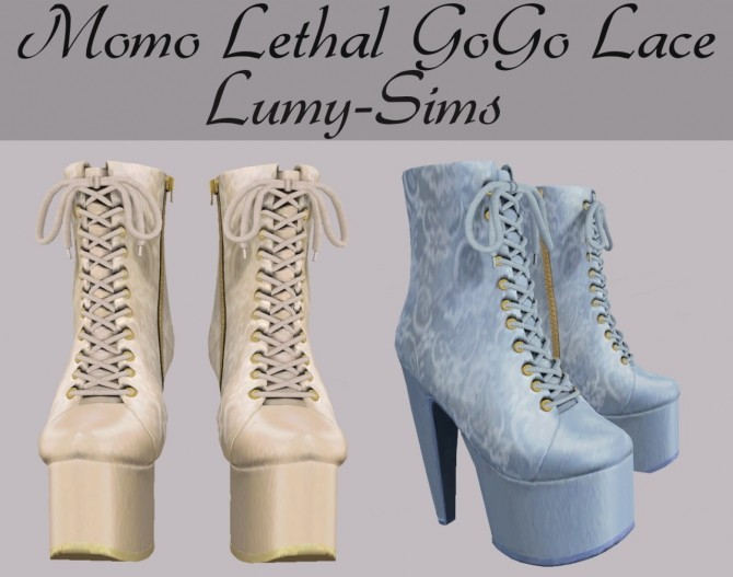 Momo Lethal GoGo Lace Boots at Lumy Sims image 2521 670x527 Sims 4 Updates