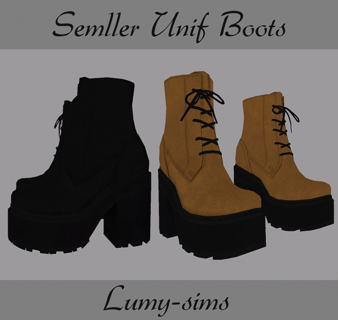 Semller Unif Boots at Lumy Sims image 2531 670x634 Sims 4 Updates