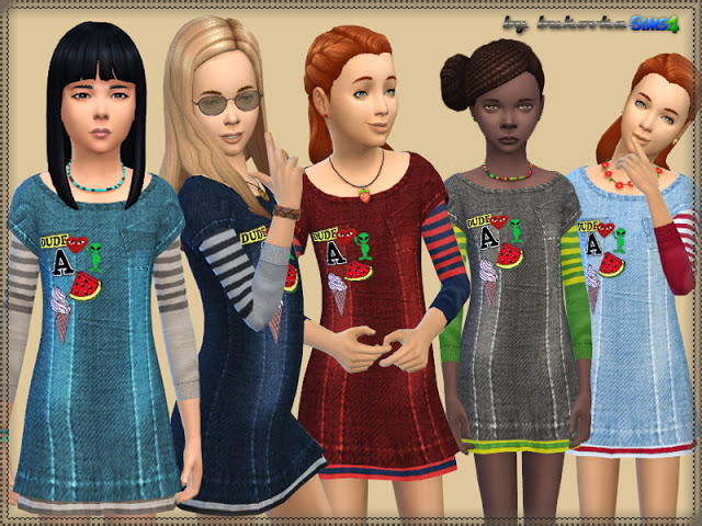 Denim Dress at Bukovka image 254 Sims 4 Updates