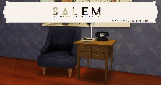 Sims 4 Salem End Table at Onyx Sims