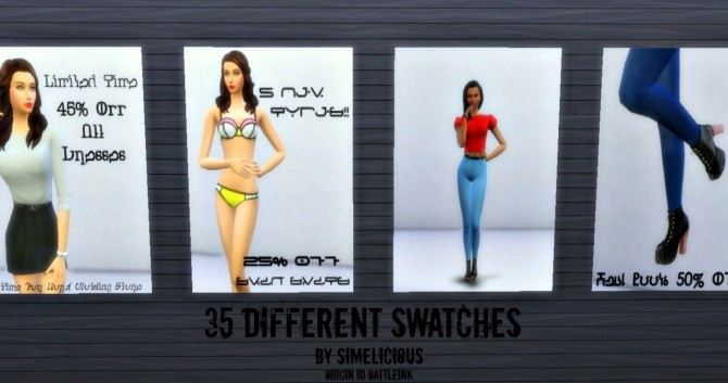Sims 4 Fashion Boards Recolor at Simelicious