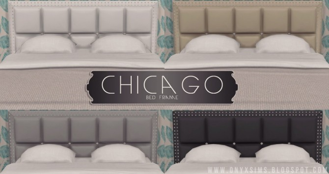 Sims 4 Chicago Bed Frame at Onyx Sims