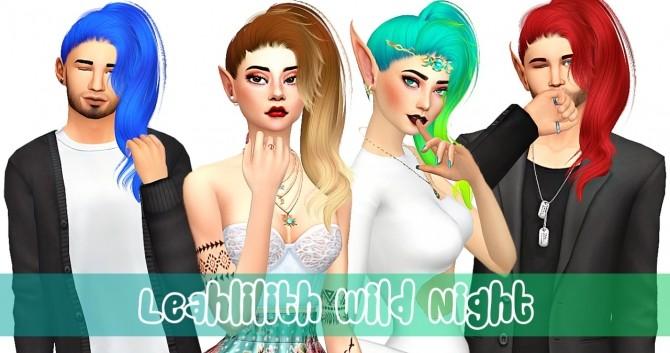 Sims 4 Leahlilith Wild Night hair retexture at Amarathinee