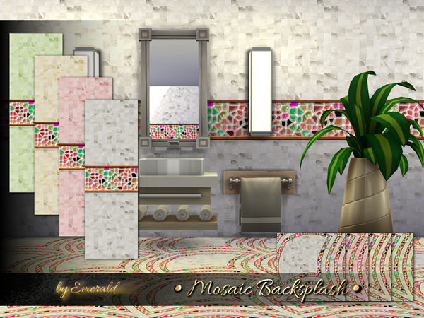 Mosaic Backsplash by emerald at TSR image 2612 Sims 4 Updates