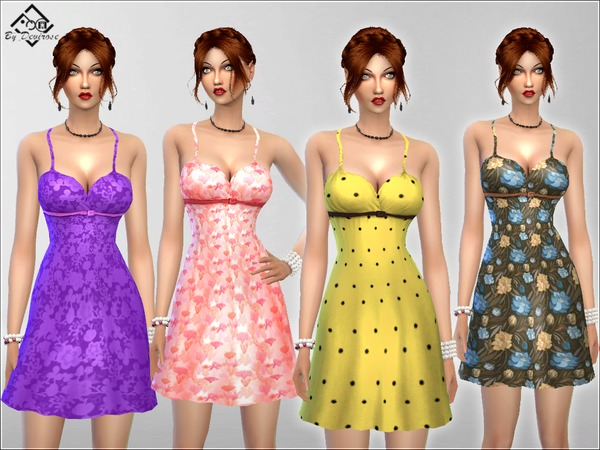 Sims 4 Lovely Day Dress by Devirose at TSR