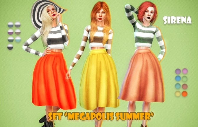 Megapolis Summer set by Sirena at Ladesire image 267 670x430 Sims 4 Updates