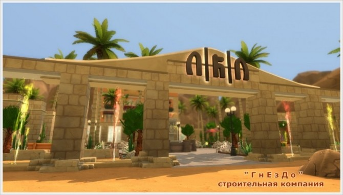 Sims 4 Beach vacation pool at Sims by Mulena