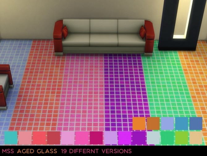 Sims 4 Aged Glass Floor by midnightskysims at SimsWorkshop