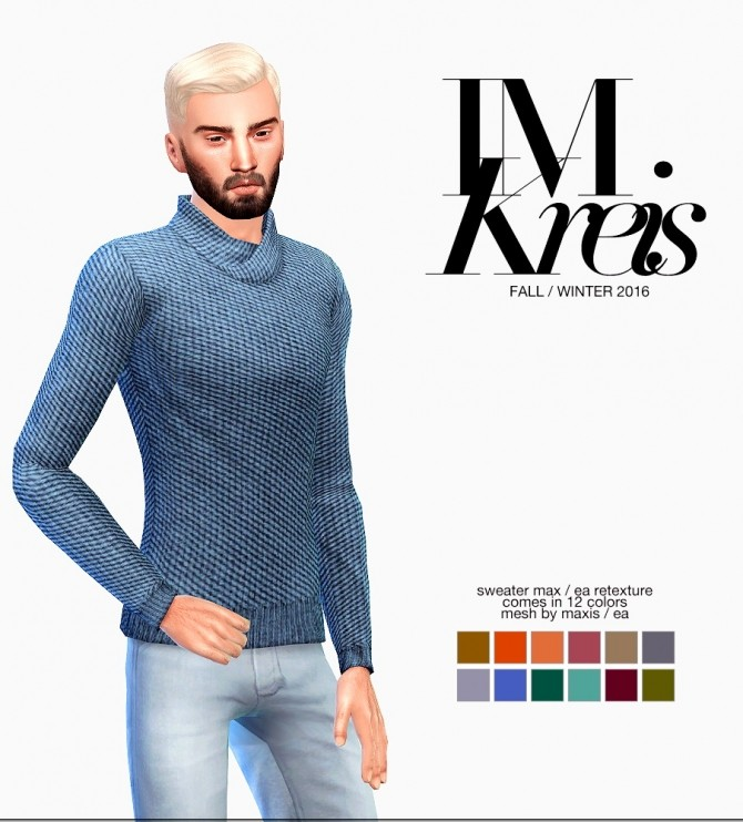 Sims 4 Winter Collection Look #2 at Ecoast