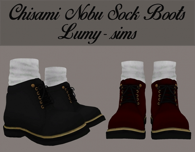 Chisami Nobu Sock Boots Updated At Lumy Sims 187 Sims 4 Updates