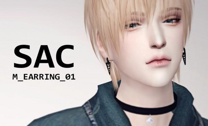 Sims 4 M earrings 01 at SAC