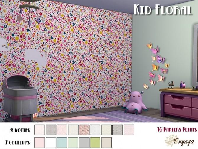 Kid Floral Walls by Fuyaya at Sims Artists image 282 670x503 Sims 4 Updates