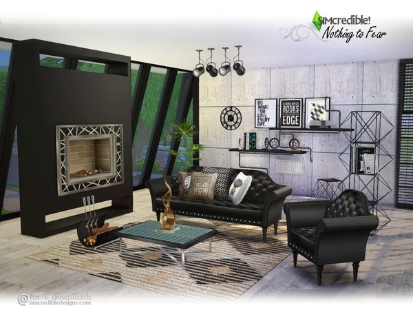 Room With Nothing In It: Nothing To Fear Living By SIMcredible At TSR » Sims 4 Updates