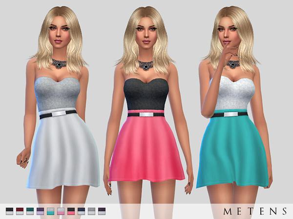 Sims 4 Amanda Dress by Metens at TSR