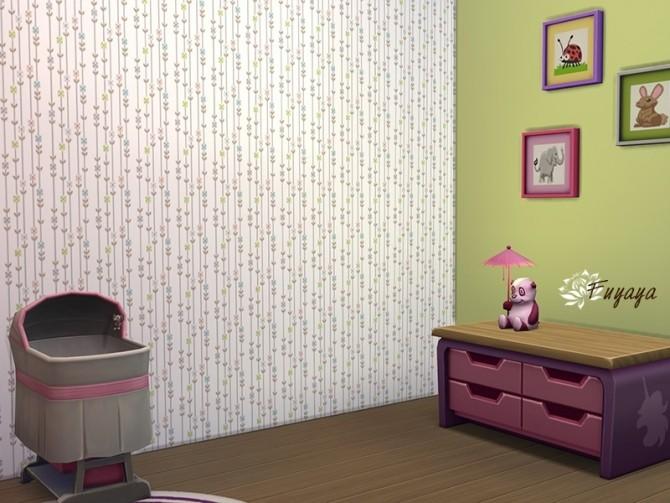 Kid Floral Walls by Fuyaya at Sims Artists image 283 670x503 Sims 4 Updates