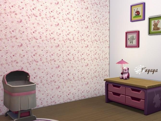 Kid Floral Walls by Fuyaya at Sims Artists image 284 670x503 Sims 4 Updates
