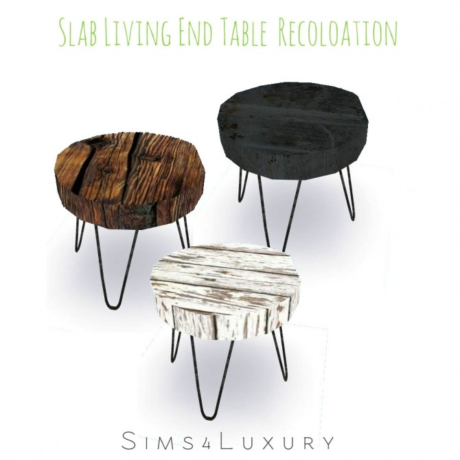 Sims 4 Slab Living End Table Recolors at Sims4 Luxury