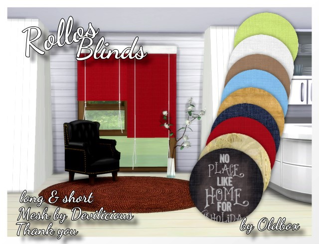 Sims 4 Rollos, Blinds by Oldbox at All 4 Sims
