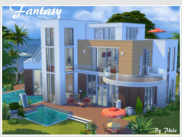 Sims 4 Fantasy house No CC by philo at TSR