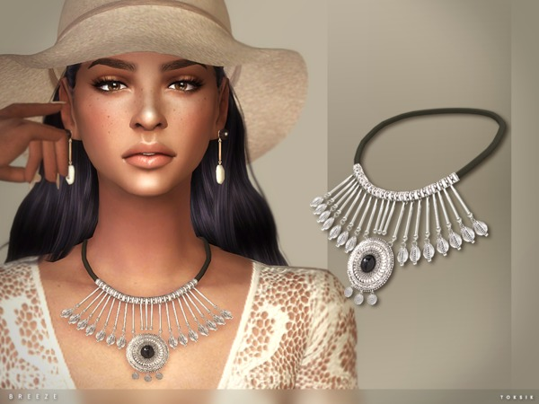 Sims 4 Breeze Necklace by toksik at TSR