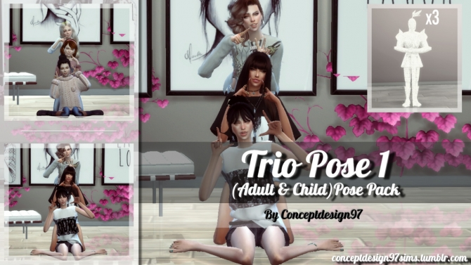 Trio Pose Pack 1 At Conceptdesign97 187 Sims 4 Updates