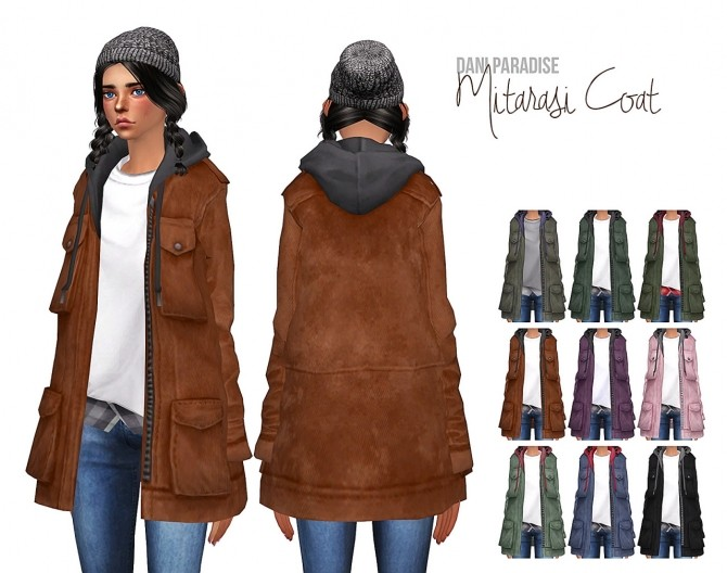 Sims 4 s3 s4 conversion mitarasi coat at Dani Paradise