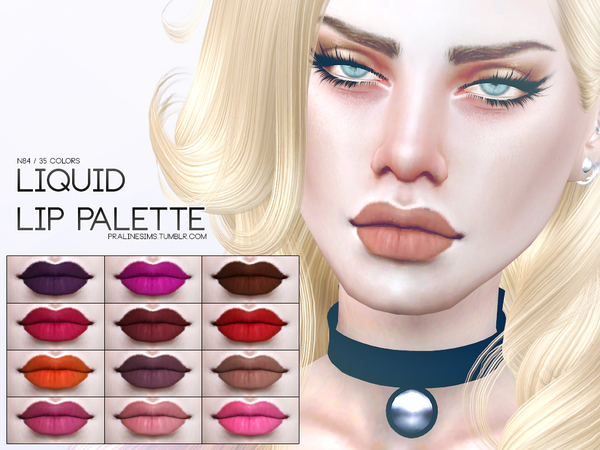 Liquid Lip Palette N84 by Pralinesims at TSR image 3 Sims 4 Updates