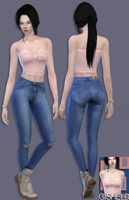 Crop Top at Gisheld image 3082 Sims 4 Updates