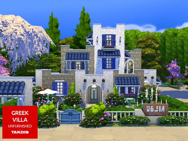 Greek Villa by Takdis at TSR image 3113 Sims 4 Updates