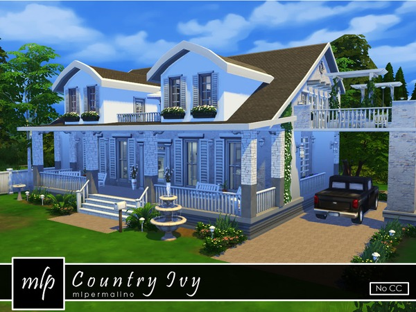 Country Ivy home by mlpermalino at TSR image 3120 Sims 4 Updates