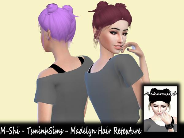 Sims 4 TsminhSims Madelyn Hair Retexture by mikerashi at TSR