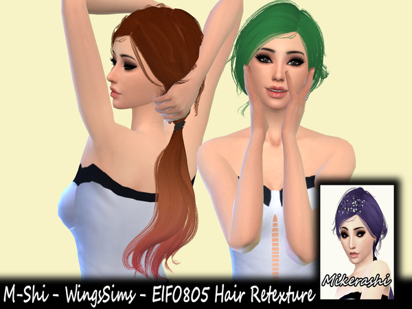 WingsSims EIFO805 Hair Retexture by mikerashi at TSR image 3153 Sims 4 Updates