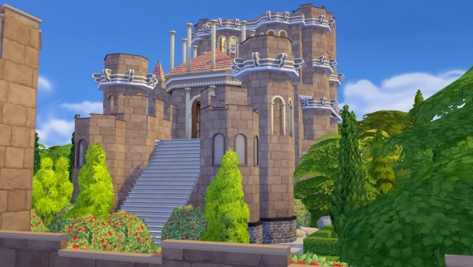 Sims 4 The Red Keep from King's Landing at Akai Sims