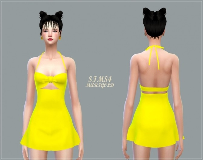 Bow Swim Dress at Marigold image 318 670x528 Sims 4 Updates