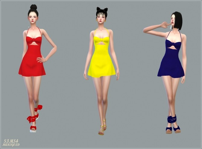 Bow Swim Dress at Marigold image 319 670x494 Sims 4 Updates