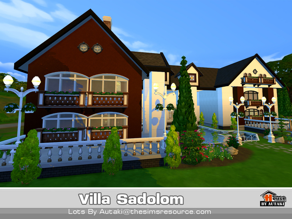 Sims 4 Villa Sadolom by autaki at TSR