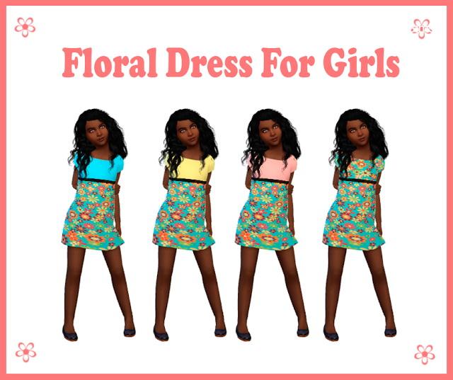 Sims 4 Floral Dress at Nathalia Sims