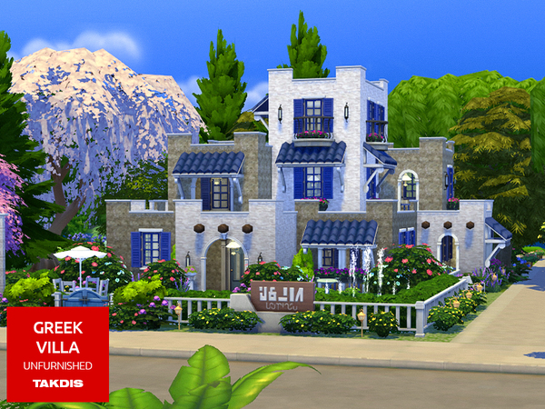 Greek Villa by Takdis at TSR image 3213 Sims 4 Updates