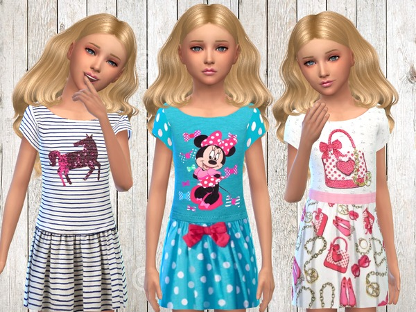 Sims 4 Summer Fun Dresses by SweetDreamsZzzzz at TSR