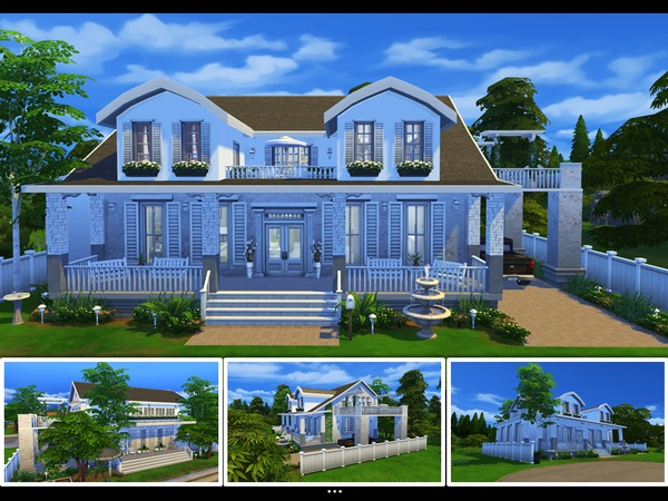 Country Ivy home by mlpermalino at TSR image 3220 Sims 4 Updates