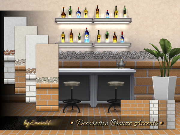 Sims 4 Decorative Bronze Accents by emerald at TSR